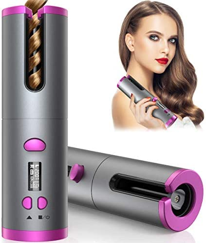 Cordless Hair Curler Automatic Curling Iron with 6 Adjustable Temperature Auto Rotating Ceramic product image