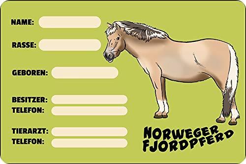 Metalen bord 20 x 30 cm boksbord boxen stal Noorweger fjord paard metalen bord