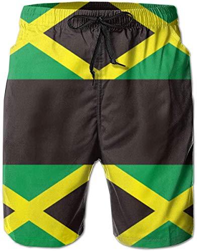 EU Herren Badehose Jamaica Flag Beach Board Shorts mit Mesh-Futter Badebekleidung Badeanzüge XL