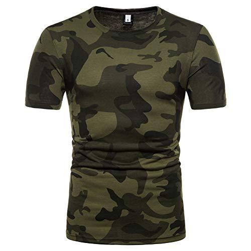XJWDTX Chemise À Col Rond Camouflage pour Hommes D'Été Tee Shirt Homme