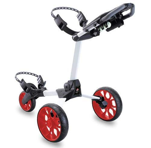 GFA Golf Trolley 3 Rad Push Golftrolley White/Red