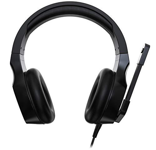 Acer Nitro Gaming Headset (anpassbares Kopfband, omnidirektionales Mikrofon, 100 dB Empfindlichkeit) schwarz-rot