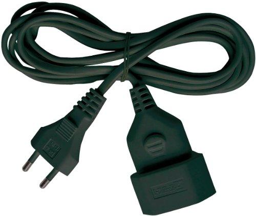 Brennenstuhl Kunstoff-Verlängerungskabel (Verlängerungskabel für den Innenbereich, 3m Kabel, mit Euro-Stecker und Kupplung) schwarz