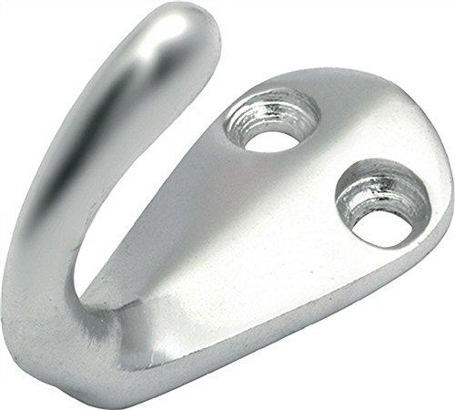 Handtuchhaken einfach Höhe 42mm Breite 35mm Aluminium Guss poliert