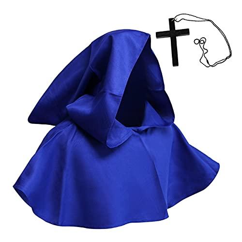 Conjunto de collar religioso de Halloween Disfraces de cosplay de bruja sombrero de vaca cruz collar conjunto de Halloween