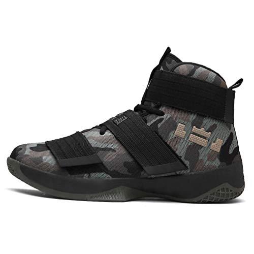 Hombres Zapatillas Deportivas Profesionales de Baloncesto Zapatos de Aire Transpirable Zoom cojín de Gancho de Bucle de Zapatos de Hombre