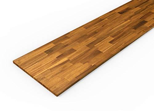 Piani da cucina in legno massello di acacia Interbuild, 2200x635x26 mm, teak dorato, 1 pezzo/confezione