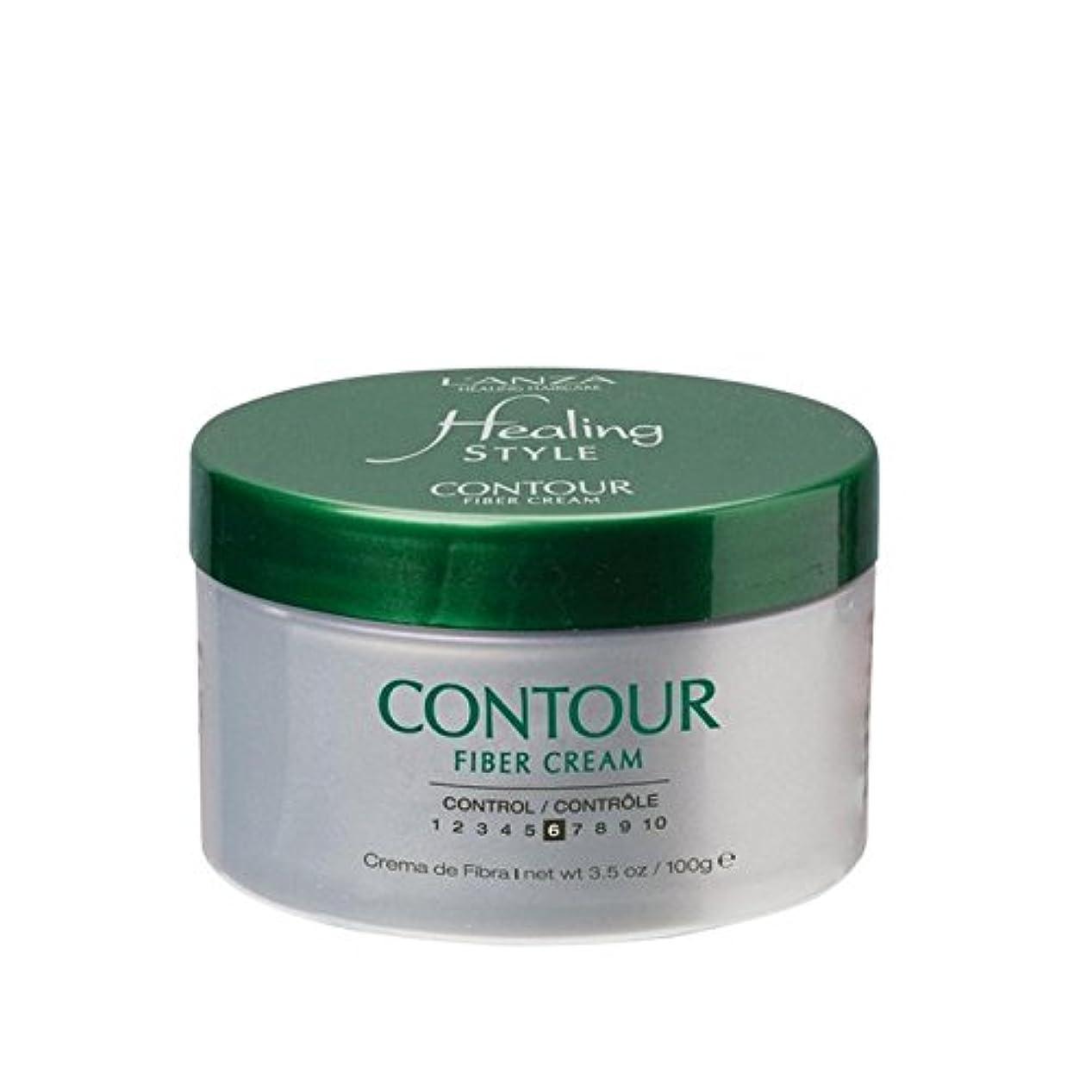 よろめくダイヤルくそーアンザ癒しのスタイル輪郭繊維クリーム(100グラム) x4 - L'Anza Healing Style Contour Fiber Cream (100G) (Pack of 4) [並行輸入品]