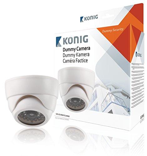 König SAS-DUMMYCAM60 - Cámara CCTV domo ficticia para interiores
