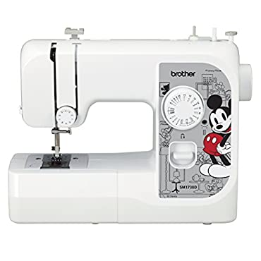 Brother SM1738D Sewing Machine with 4 Disney Faceplates, 17 Built-in Stitches, Disney Dust Cover, 4 Sewing Feet & LED Work Area
