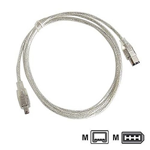 MPF Products VMC-IL4615 VMCIL4615 i.Link 4-pin to 6-pin DV Digital Video Transfer Cable Replacement Compatible with Select Sony Handycam Camcorders (Compatible Models Listed Below)