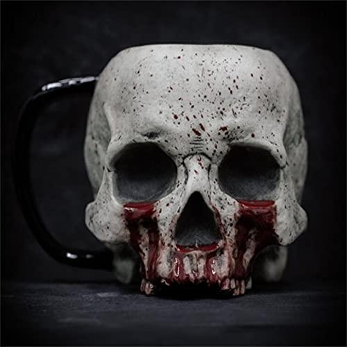 Taza De Calavera, Taza De Café Resina Con Forma De Calavera, Creativa Taza 3d Con Asa, Tazas De Café Macabras / Taza, Adornos DecoracióN Para El Amante Terror Halloween (C)