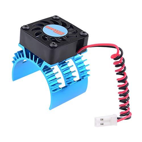 SM SunniMix Aluminio del Disipador de Calor del Motor para Motor 1/10 HSP 540/550 3650/3660/3665/3670/3674 - Azul