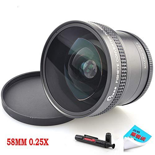 Pixco 58MM 0.25X Super Macro Wide Angle Fisheye Lens schroefdraad lens Voor Canon Fuji FX NIKON PENTAX DSLR SLR Camera met Lens cleaning papier & schoonmaak pen
