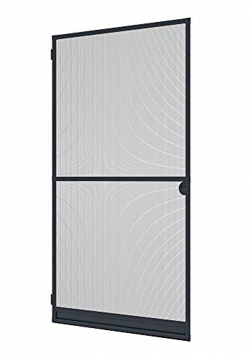 Preisvergleich Produktbild Windhager Insektenschutz Spannrahmen-Tür Expert,  Fliegengitter Alurahmen für Türen,  individuell kürzbar,  100 x 210 cm,  anthrazit,  03903
