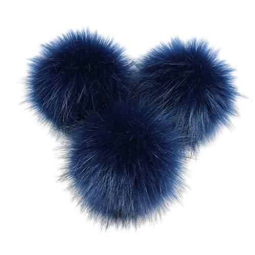 Mentin DIY 8 cm 10 cm Kunstfuchs Kunstfell Bommel Fluffy Ball für Strickmütze, Hüte, Kleidung, Schuhe, Tasche, O, 10 cm