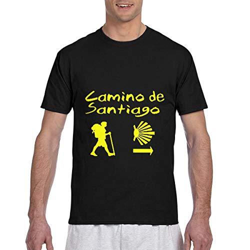 HUANANAN CAMINO DE Santiago Camiseta de manga corta para hombre con impresión 3D
