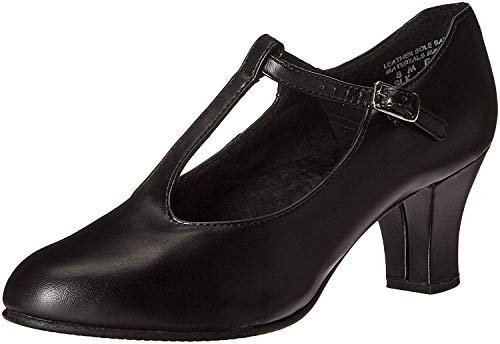 Capezio Jr. Footlight T-Strap Black Dance Shoe - 10 M US