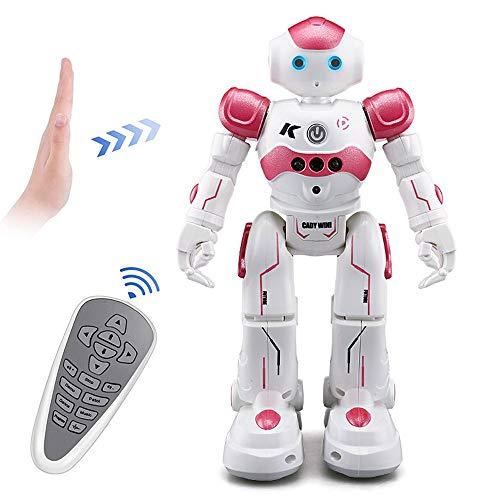 DBXMFZW Robot inteligente RC, robot recargable de gesto RC, robot de RC programable para música y baile, demostración automática de robots RC, regalos de cumpleaños de Navidad para niños de 3 a 6 años