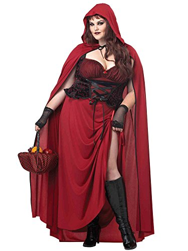 California Costumes Costume adulte Dark Red Riding Hood pour femme, rouge, XXL