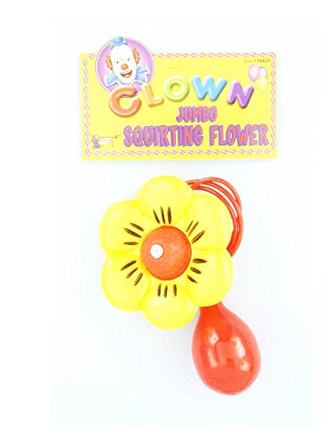 Forum Novelties Jumbo Squirt Flower, Multi-Color, Standard