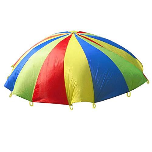 YanYun Ausflug Interaktives Spielzeug Kinder Regenbogen Regenschirm Im Freien Sport Kindergarten Spielzeug Eltern-Kind Aktivit?Ten Fallschirm Ziehen