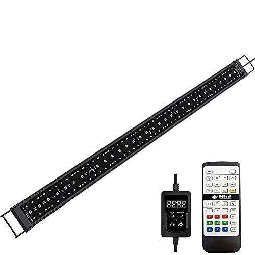 NICREW SkyLED RGB+W 24/7 Rampe LED Aquarium, Éclairage LED Étanche à Spectre Complet avec la Fonction Minuterie pour Plantes d'Aquarium, 90-110 cm, 33 W, 1650 LM