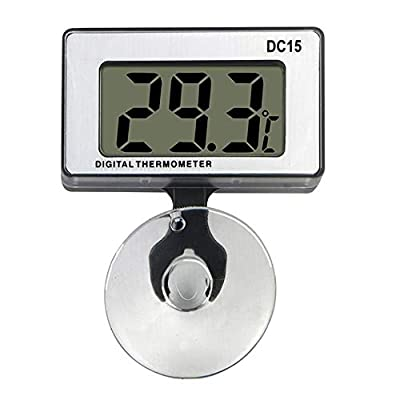 Gellvann Digital Aquarium Thermometer Submersible with Suction Cup Waterproof LCD Digital Fish Tank Aquarium Thermometer for Tropical and Marine