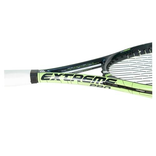This racquet is the heaviest version of the Extreme series and offers great pop, more plow through and great spin.