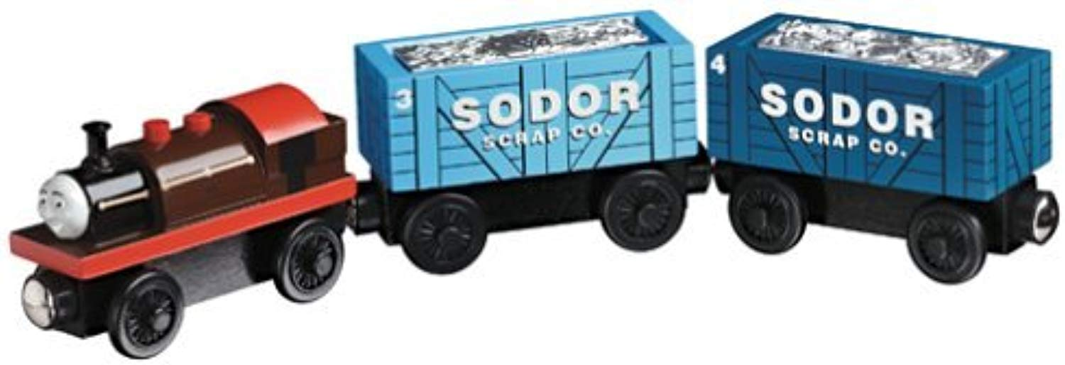 Thomas the Tank Engine & Friends Wooden Railway - Bertram with Scrap autos by Thomas & Friends