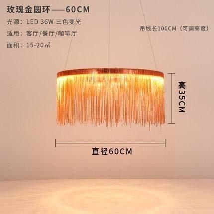 CLJ-LJ LED de la lámpara de la borla de distancia Moderno de tres colores ajustable de lujo nórdica restaurante iluminación de la lámpara Living Hotel (Emitting Color : Warm White)