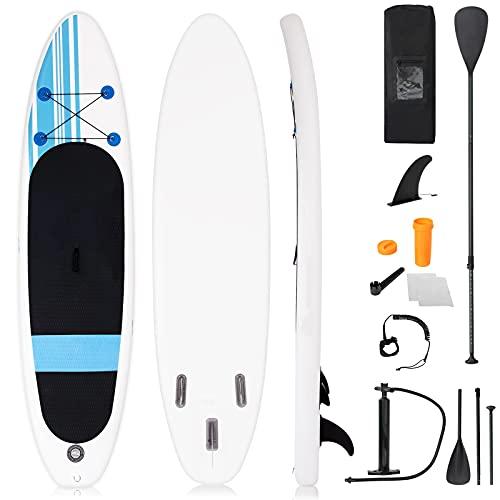 DREAMADE SupBoard aufbelasbar, Stand-Up-Paddling, Surfboard Paddelboard mit Paddel, Luftpumpe,...
