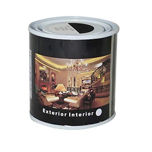 Pintura Esmalte al Disolvente para Madera y Metal, Pintura Alquidica de Rápido Secado para Superfícies Interiores y Exteriores(Negro Mate, 125 ML)