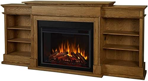 Amazon Com Ashton Grand Media Electric Fireplace In English Oak Home Kitchen