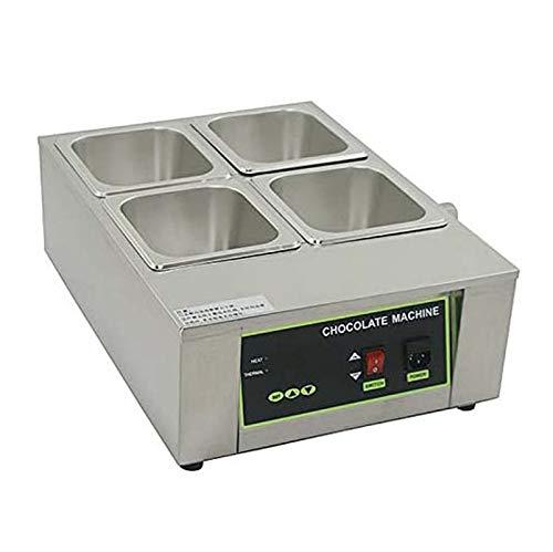 Máquina de fusión de chocolate eléctrica capacidad 4 ollas temperatura ajustable 1000...