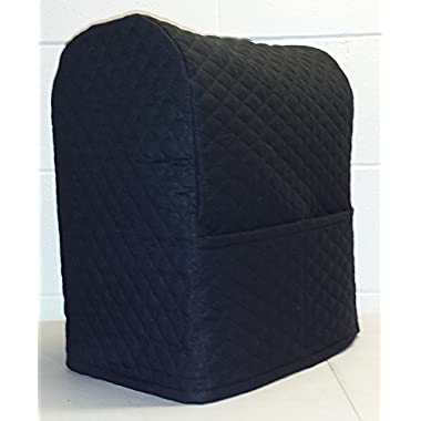 Quilted Kitchenaid Lift Bowl Stand Mixer Cover (Black)