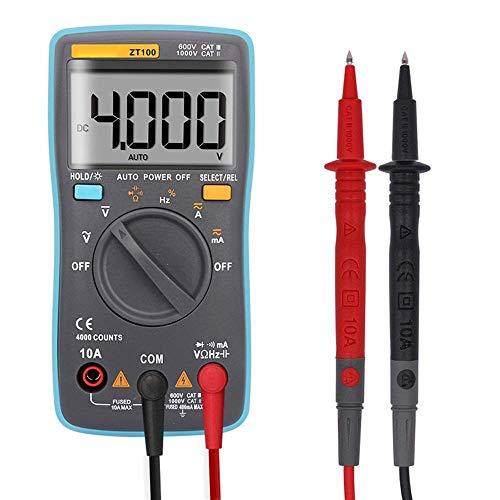 BXU-BG Multímetro digital de 4000 cuentas Back Light AC/DC Voltaje amperímetro y voltímetro Ohm Frecuencia probador de diodos Medidor DMM