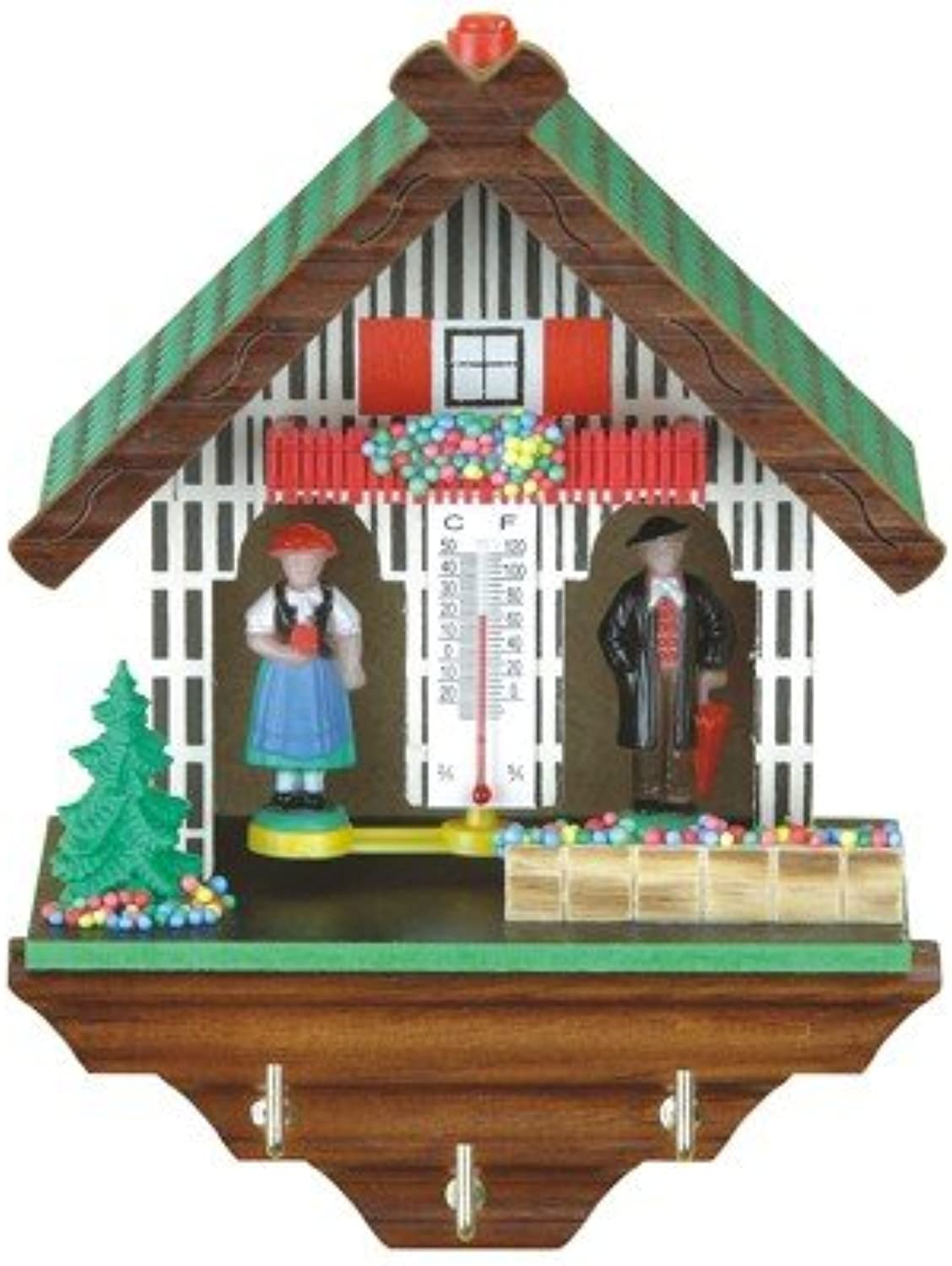 Trenkle German Black Forest weather house with keyboard TU 1803