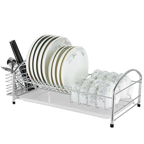 304 étagère de cuisine en acier inoxydable Bowl plateau de drainage panier de drainage panier de baguettes à une seule couche à sec mettre bol Bowl 48 * 26 * 18.5cm (taille : 48 * 26 * 18.5CM)