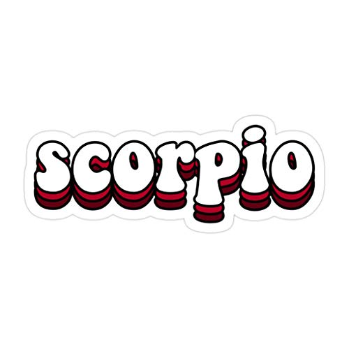 CRAIGWILLIS (3 PCs/Pack) Scorpio 3x4 Inch Die-Cut Stickers Decals for Laptop Window Car Bumper Helmet Water Bottle