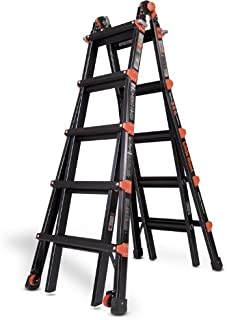 Little Giant 10103BP PRO Series 300-Pound Duty Rating Multi-Use Aluminum Ladder, 22-Foot