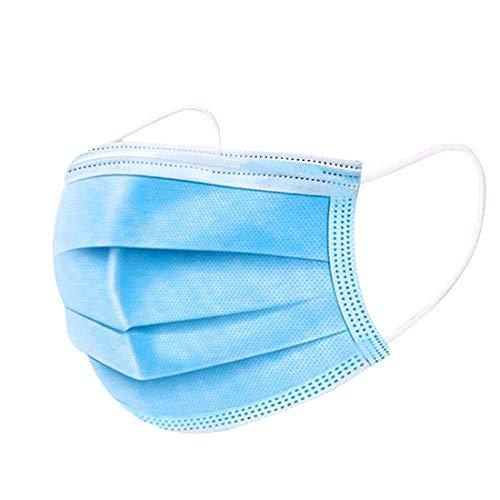 Desechable Tejido no Tejido Antibacteriana de 3 Capas 50 Piezas (Azul)