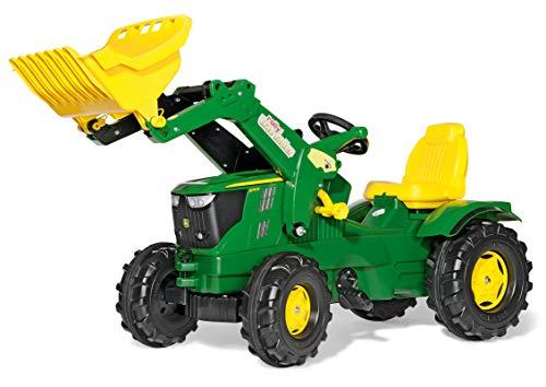 Rolly Toys rollyFarmtrac Trettraktor John Deere 6210R (inkl. rollyTrac Lader, Front- und Heckkupplung, für Kinder von 3 bis 8 Jahre) 611096