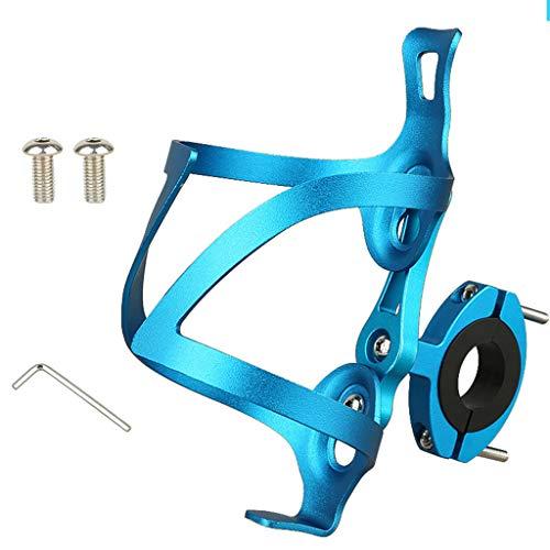 Sidougeri - Portabotellas para bicicleta, soporte de exhibición para botellas de agua, mini ligero, duradero, para bicicletas de carretera, MTB multiuso, azul, app.6.5x14cm/2.55x5.51in