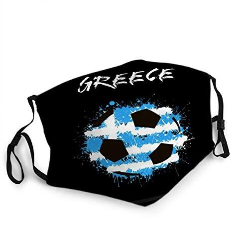 TABUEL Gesicht Ma - SKS Mundabdeckung Wiederverwendbare Ma - SKS Zusammenfassung Fußball Griechenland Inseln Flagge