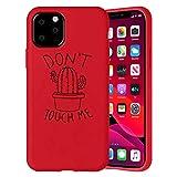 ZhuoFan Funda para iPhone 12 / iPhone 12 Pro 6.1'', Carcasa de Rojo Silicona Case Protección de Cuerpo Completo Suave TPU Protectora Antichoque Bumper Cover para & Movil Fundas - Cactus 1