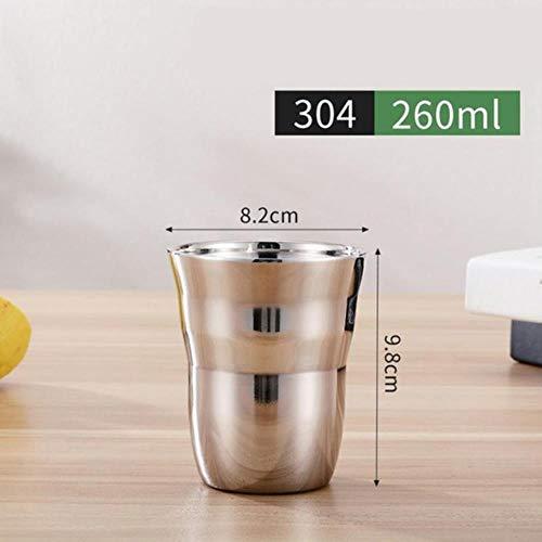 UUU Robuste stapelbare Bier-/Saftbecher Kaffeetasse Getränkebecher, dunkles kaki, 301-400ml
