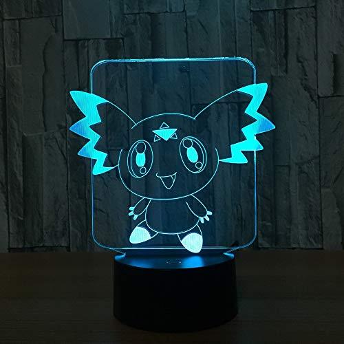 3D Luz Nocturna para Niños Led Lamparas de Mesilla de Noche Luz Noche Infantil 16 Cambiar el Color botón Lampara Noche Niños Decoracion Habitacion Juvenil