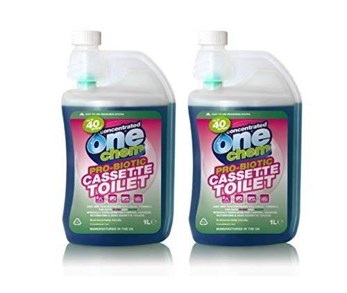 One Chem 2 x 1L Probiotic Concentrated Cassette Toilet Fluid