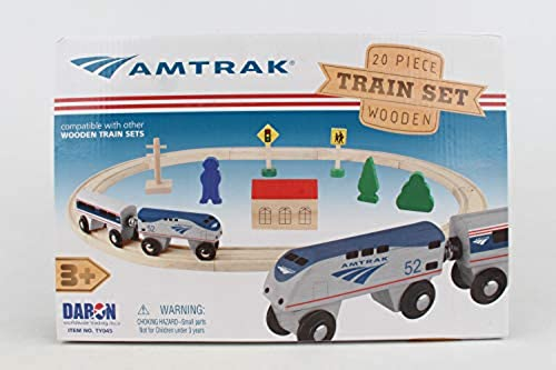 Daron Worldwide Trading Daron Amtrak Wooden Train Set (20 Piece) by Daron